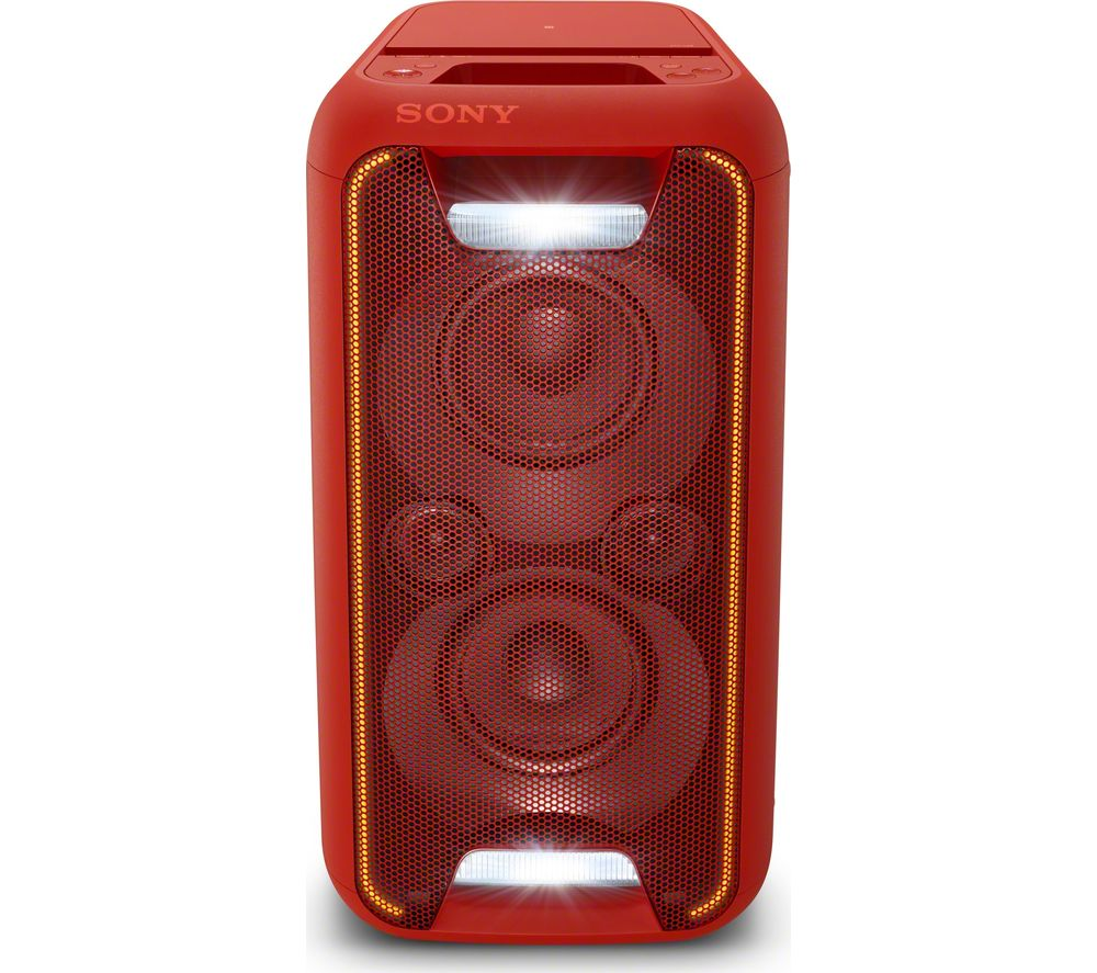 SONY GTK-XB5R Wireless Megasound Hi-Fi System - Red
