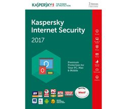 KASPERSKY Internet Security 2017 - 1 year for 3 devices