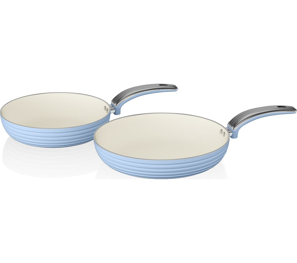 SWAN Retro 2-piece Non-stick Frying Pan Set - Blue