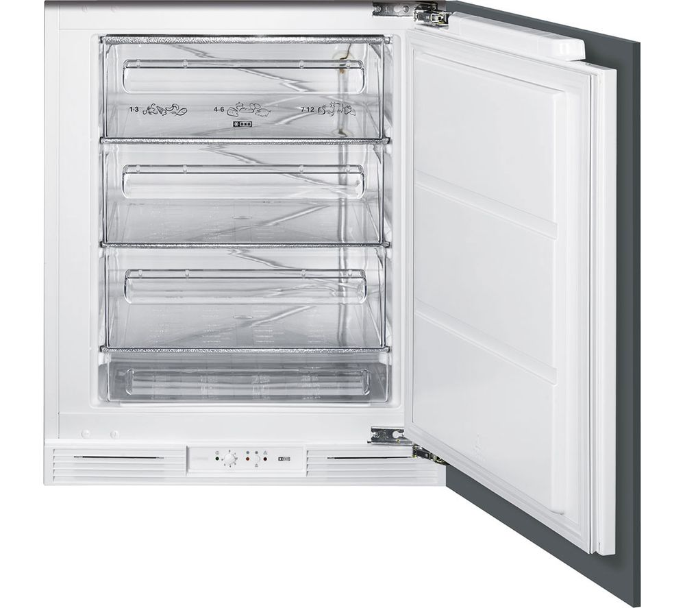 SMEG UKUD7108FSEP Integrated Undercounter Freezer - White
