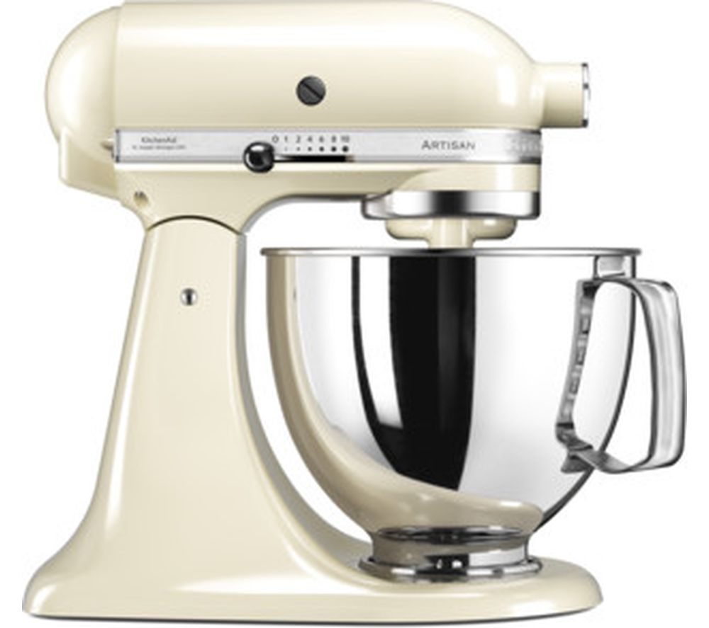 buy kitchenaid 5ksm125bac artisan tilt head stand mixer almond cream free delivery currys. Black Bedroom Furniture Sets. Home Design Ideas