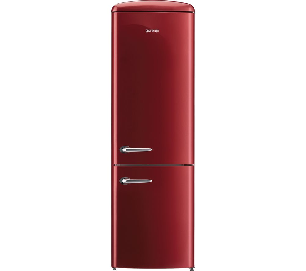 GORENJE ONRK193R Fridge Freezer - Burgundy