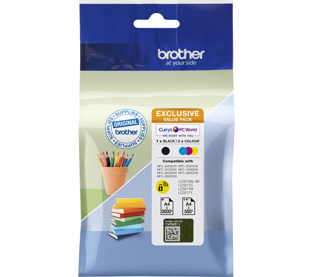 BROTHER LC3219XLDSVALRF Cyan, Magenta, Yellow & Black Ink Cartridges - Multipack