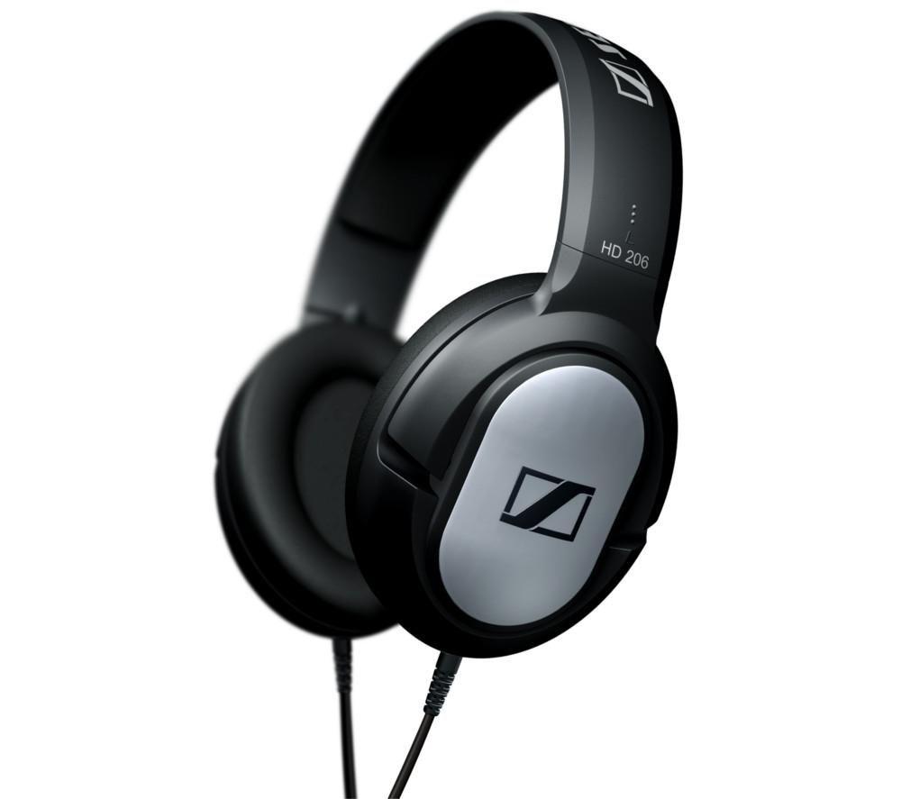SENNHEISER HD 206 Headphones - Black & Silver