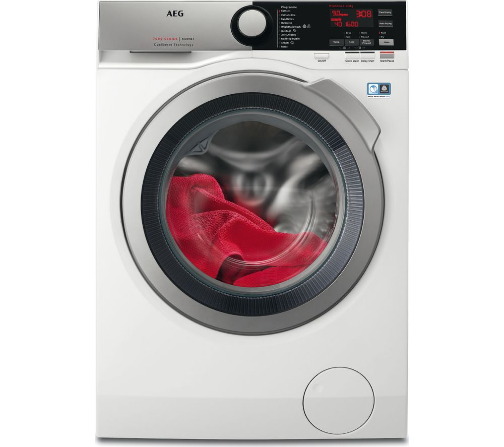 AEG L7WEE965R 9 kg Washer Dryer - White, White