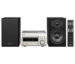 DENON DM-41DAB Wireless Traditional Hi-Fi System - Premium Silver