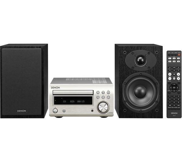 Image of DENON DM-41DAB Wireless Traditional Hi-Fi System - Premium Silver