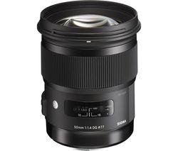 SIGMA 50 mm f/1.4 DG HSM Standard Prime Lens - for Nikon