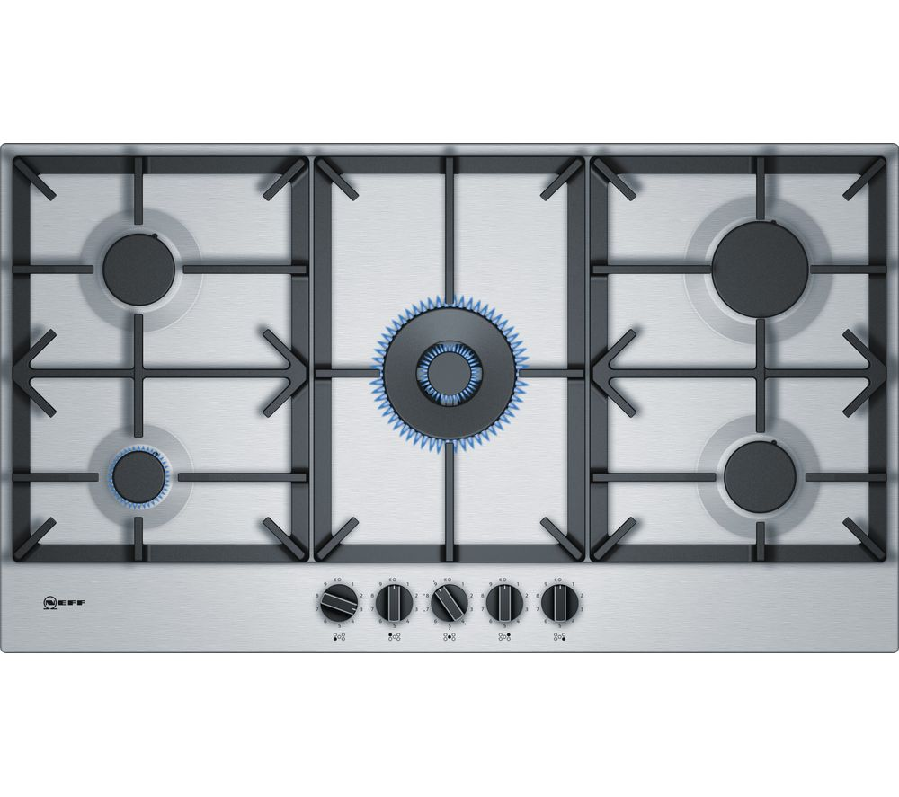 NEFF N70 T29DS69N0 Gas Hob - Stainless Steel