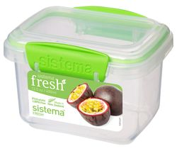SISTEMA Fresh Rectangular 0.4 litre Container - Green