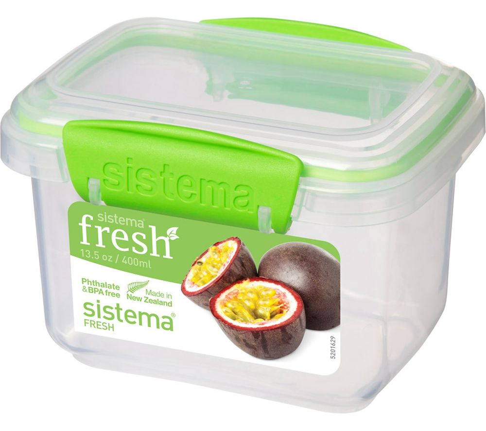 SISTEMA Fresh Rectangular 0.4 litre Container - Green, Green Review thumbnail