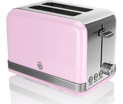 SWAN ST19010PN2-Slice Toaster - Pink