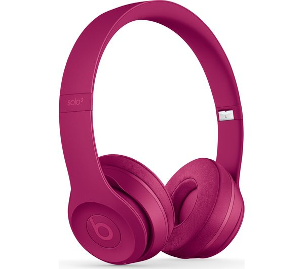 Compare retail prices of Beats Solo 3 Neighbourhood Wireless Bluetooth Headphones - Brick Red to get the best deal online