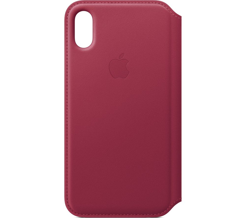 APPLE iPhone X Leather Case - Berry cheapest retail price