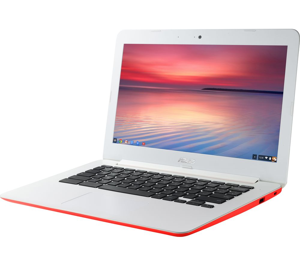 "Image of ASUS C300 13.3"" Chromebook - Red, Red"