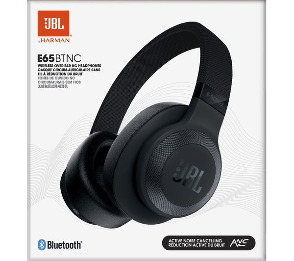 3f5e0333942 JBL E65BTNC Wireless Bluetooth Noise-Cancelling Headphones - Black