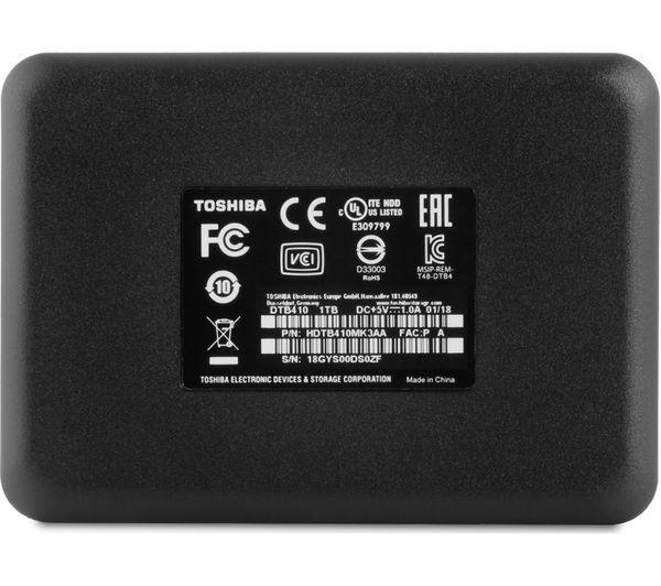 TOSHIBA Canvio Basics Portable Hard Drive - 1 TB, Black