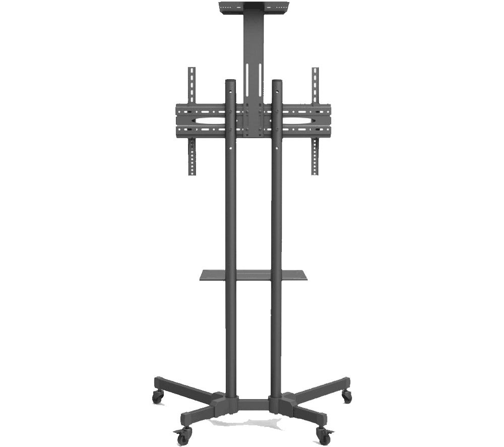 MMT D910 Trolley 900 mm TV Stand with Bracket - Black