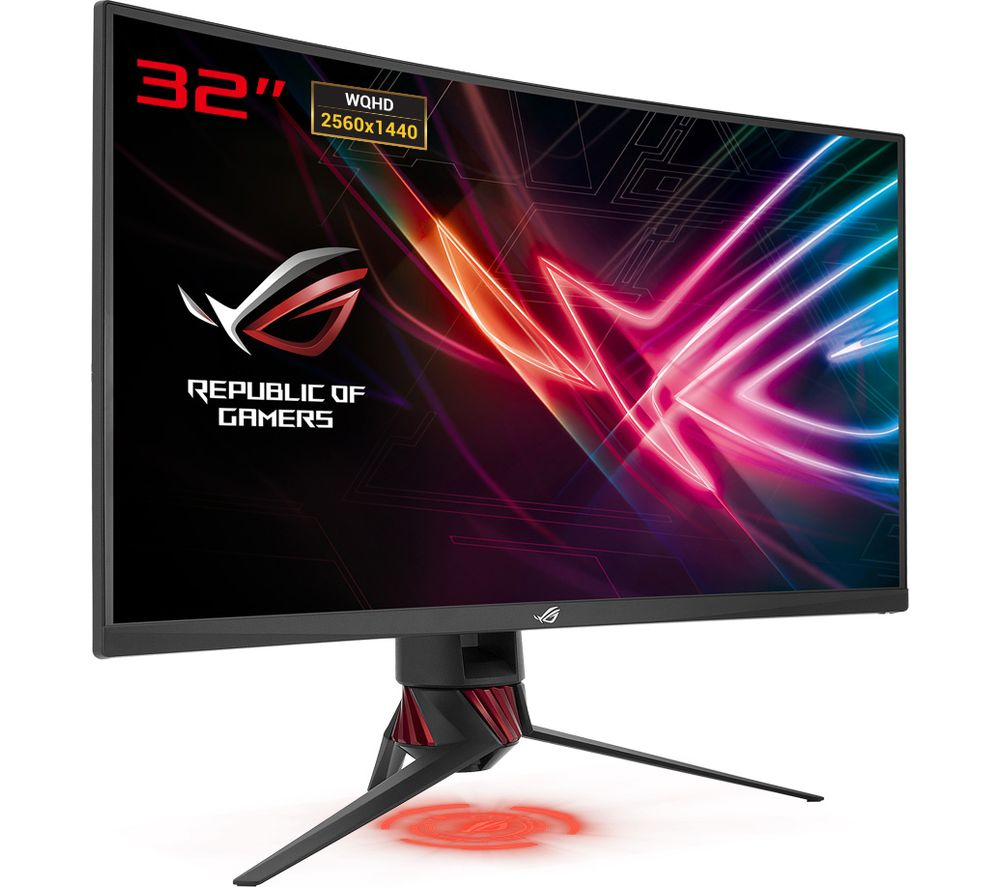 "ASUS XG32VQ Quad HD 32"" Curved LED Gaming Monitor - Red & Grey"