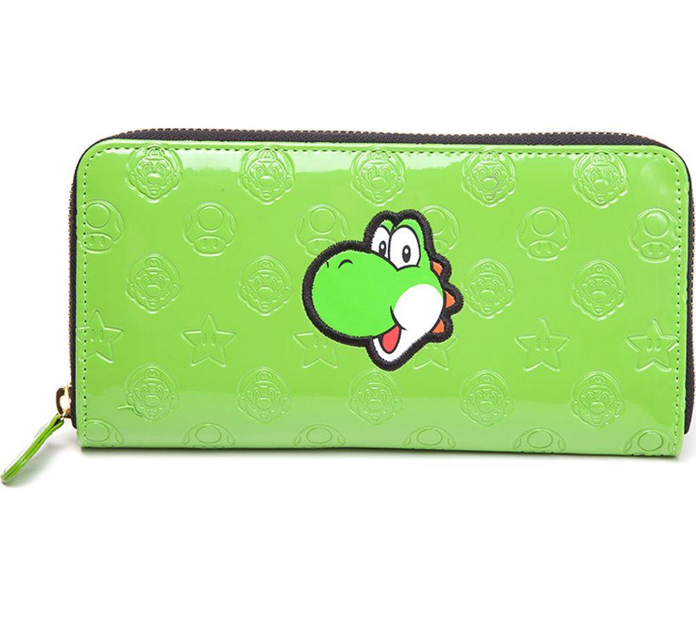 NINTENDO Yoshi Allround Zipper Bifold Wallet - Green