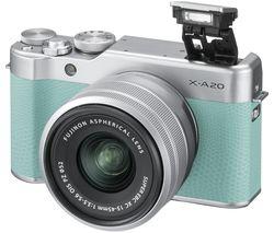 FUJIFILM X-A20 Mirrorless Camera with FUJINON XC 15-45 mm f/3.5-5.6 OIS PZ Lens - Mint Green & Silver