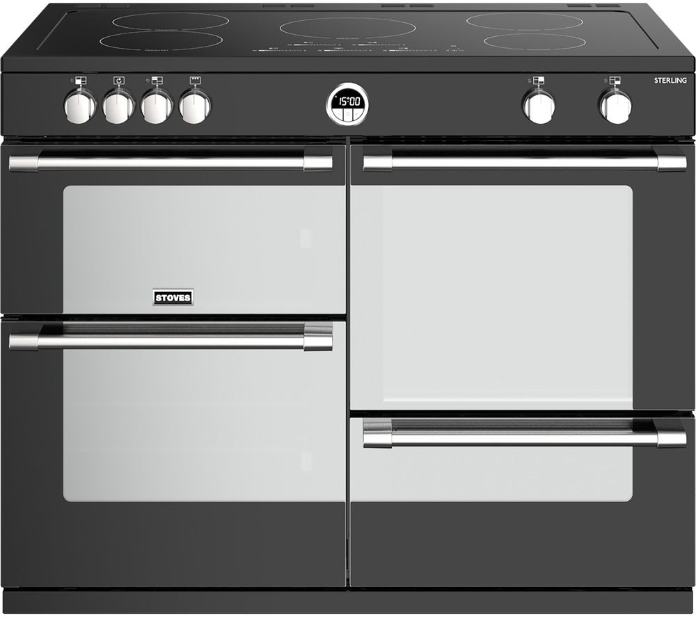 STOVES Sterling S1100Ei 110 cm Electric Induction Range Cooker - Black