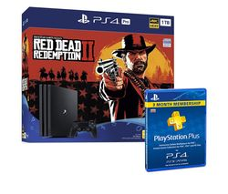 SONY PlayStation 4 Pro, Red Dead Redemption 2 & PlayStation Plus Bundle