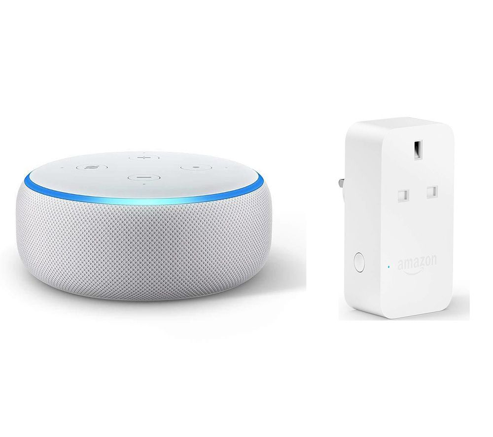 Image of AMAZON Echo Dot (2018) & Smart Plug Bundle - Sandstone