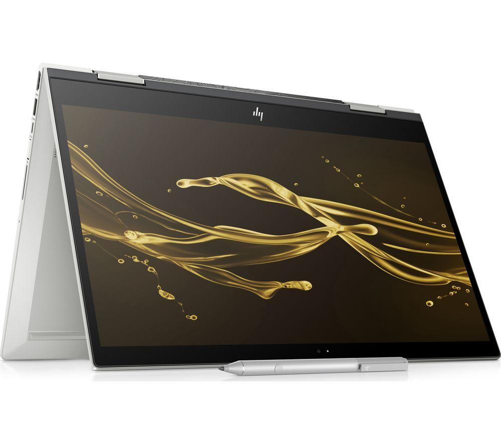 """HP ENVY x360 15.6"""" Intel® Core™ i7 2 in 1 - 1 TB HDD & 128 GB SSD, Silver"""