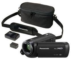 PANASONIC HC-VX870EB-KIT 4K Ultra HD Camcorder with Carry Case, Spare Battery & Extra Battery Charger - Black