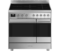 SMEG C92IPX9 90 cm Electric Induction Range Cooker - Stainless Steel Best Price, Cheapest Prices