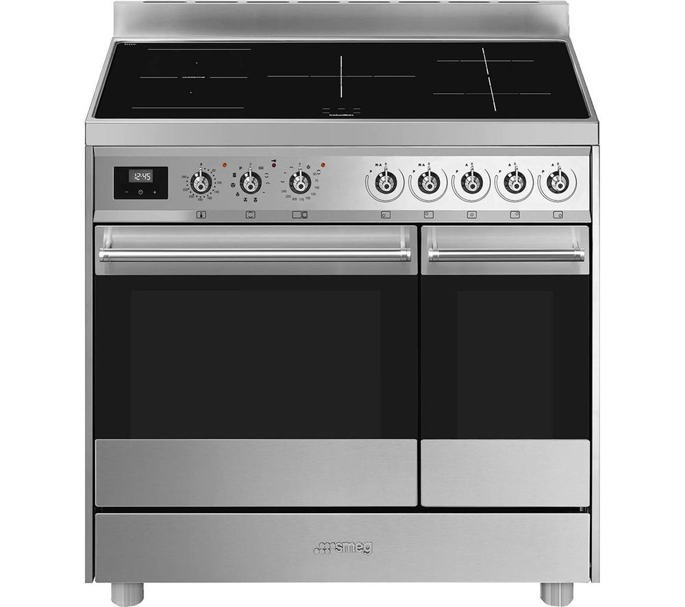 SMEG C92IPX9 90 cm Electric Induction Range Cooker - Stainless Steel