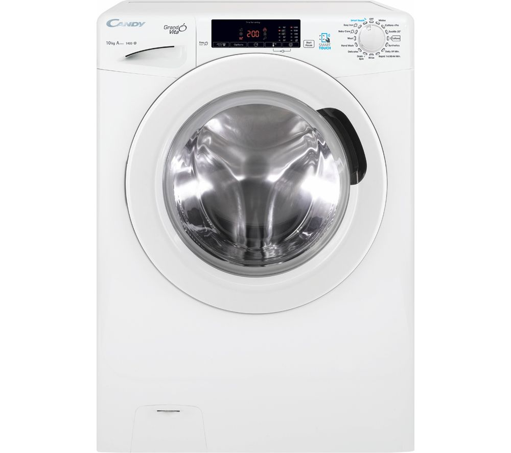 Image of Candy GVSC 1410T3 NFC 10 kg 1400 Spin Washing Machine - White, White