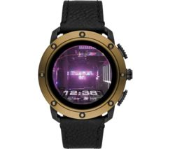 AXIAL DZT2016 Smartwatch - Black & Brown, Leather Strap