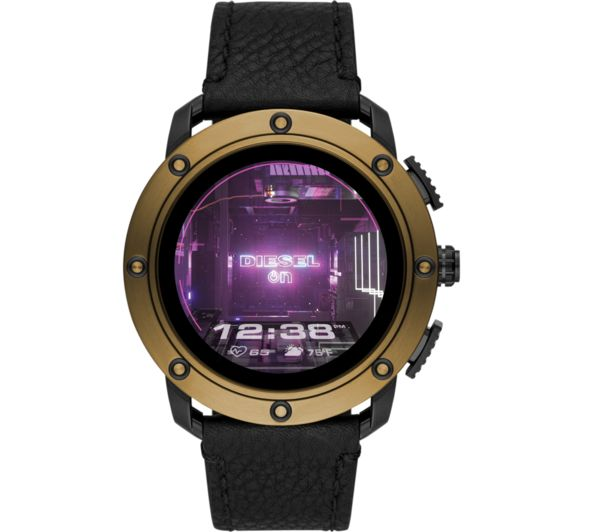 Image of DIESEL AXIAL DZT2016 Smartwatch - Black & Brown, Leather Strap