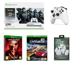 MICROSOFT Xbox One S, Gears 5 Special Edition, Tekken 7, Project Cars 2, Wireless Controller & Twin Docking Station Bundle