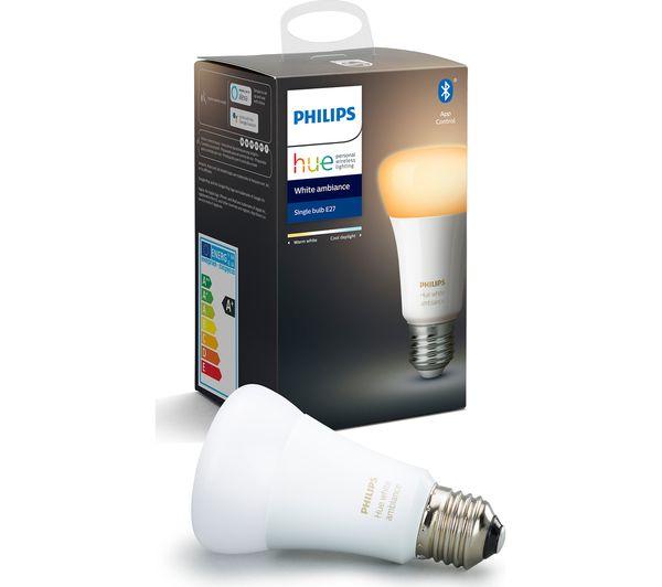 Image of PHILIPS HUE White Ambience Bluetooth LED Bulb - E27