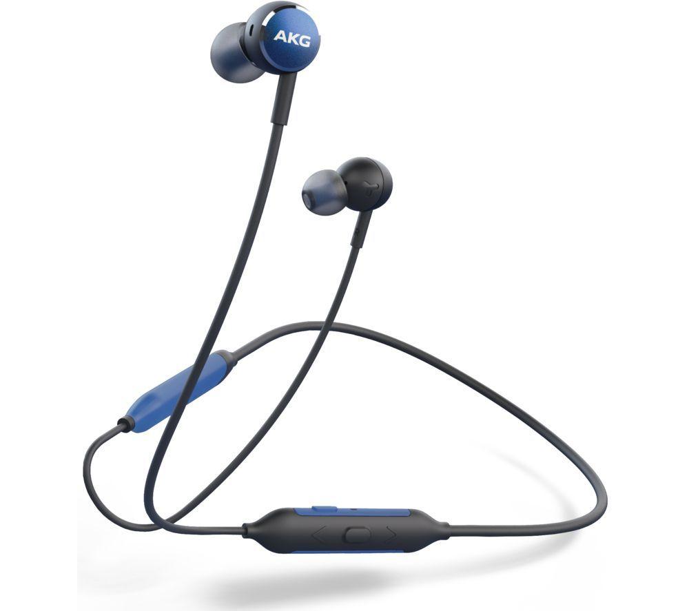 Image of AKG Y100 Wireless Bluetooth Earphones - Blue, Blue