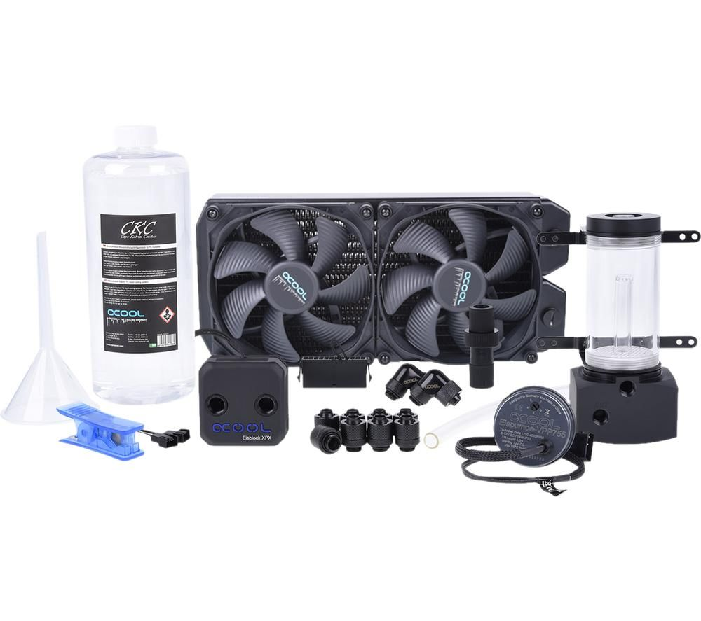 ALPHACOOL Ice Storm Tornado Copper 60 Liquid Cooling Kit - 2 x 140 mm