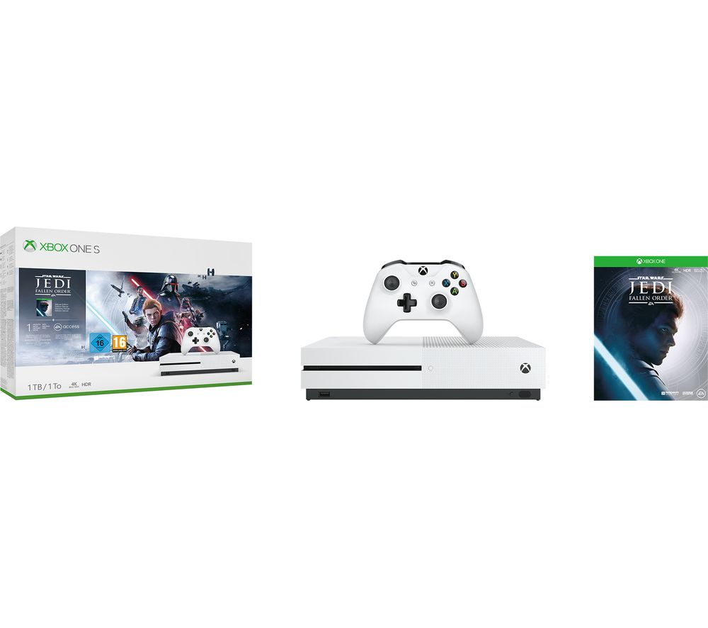 MICROSOFT Xbox One S with Star Wars Jedi: Fallen Order Deluxe Edition Bundle - 1 TB