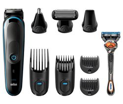 BRAUN MGK5080 All-in-One Wet & Dry Trimmer - Blue & Black