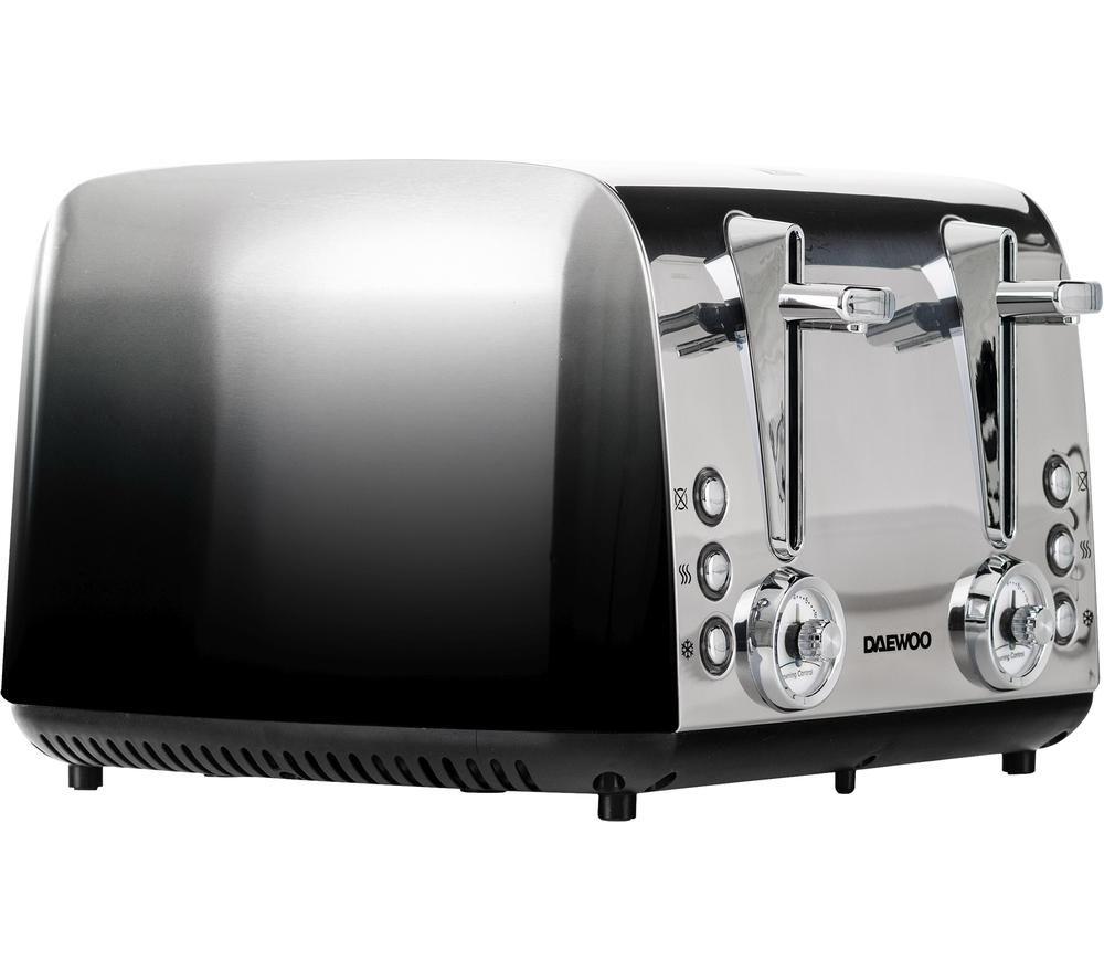 DAEWOO Callisto SDA1839 4-Slice Toaster - Black & Silver