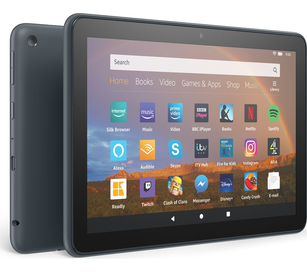 Image of AMAZON Fire HD 8 Plus Tablet (2020) - 64 GB, Black, Black