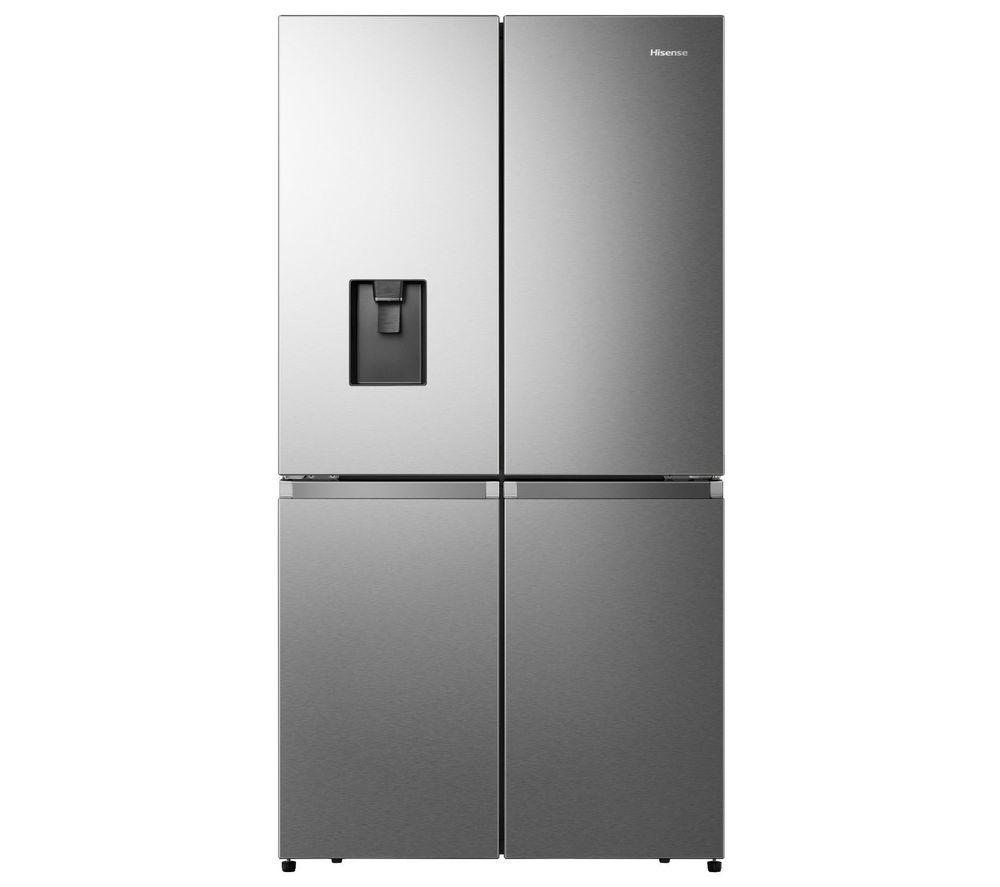 HISENSE PureFlat RQ758N4SWI1 Fridge Freezer - Stainless Steel