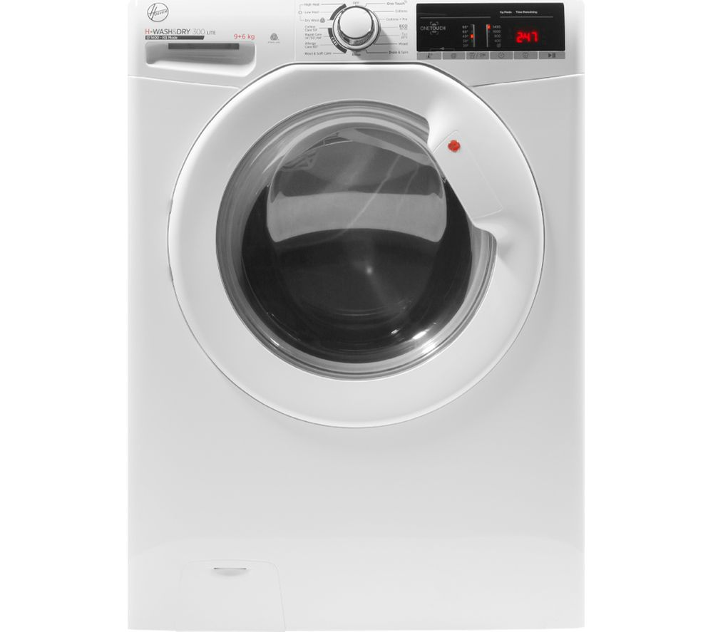 HOOVER H-Wash 300 H3D 496TE NFC 9 kg Washer Dryer - White, White
