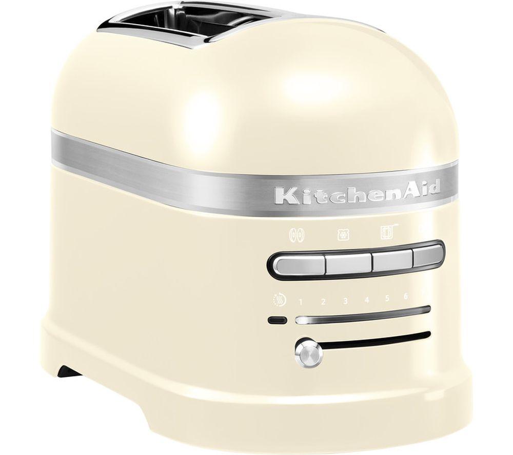 KITCHENAID Artisan 5KMT2204BAC 2-Slice Toaster - Almond Cream, Cream