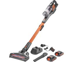 BLACK + DECKER PowerSeries Extreme Twin Battery BHFEV182C2-GB Cordless Vacuum Cleaner - Orange