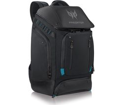 "Predator Gaming Utility 17"" Laptop Backpack – Black & Teal"