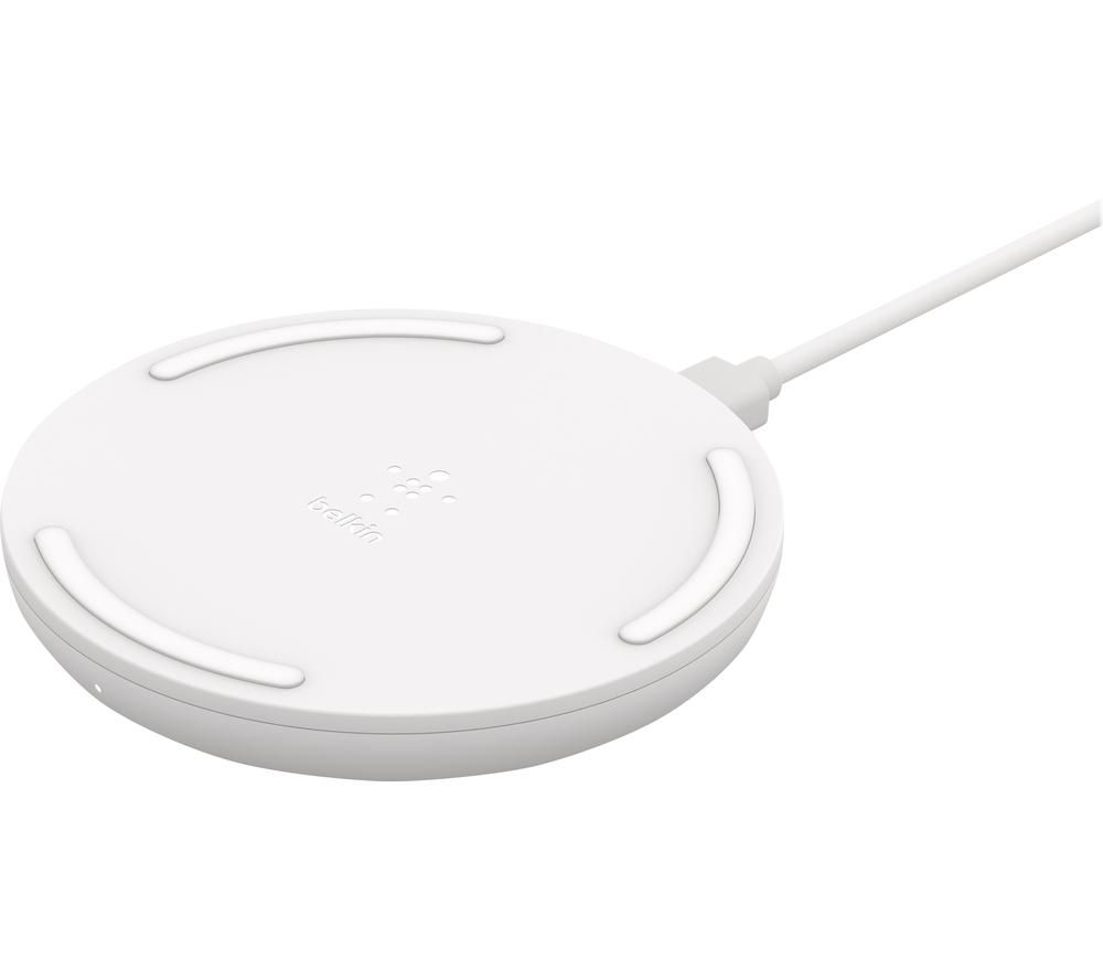 BELKIN 15 W Qi Wireless Charging Pad with Power Supply - White, White