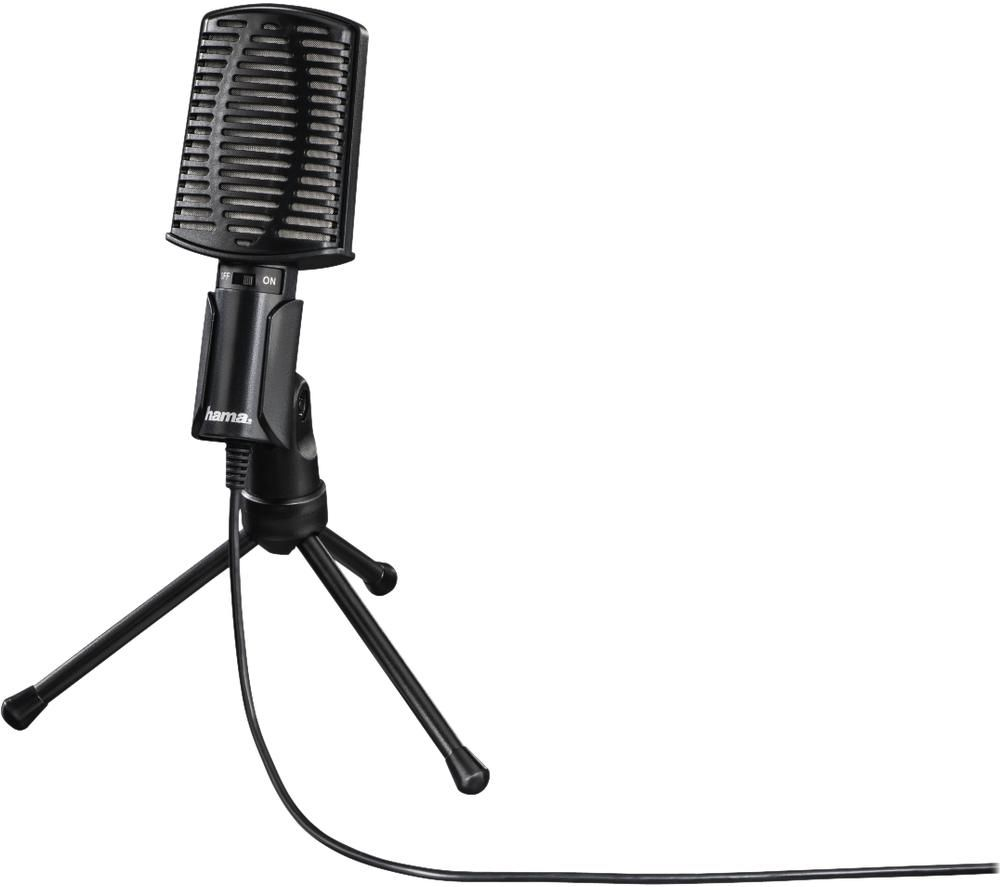 Image of HAMA MIC-USB Allround Microphone - Black, Black